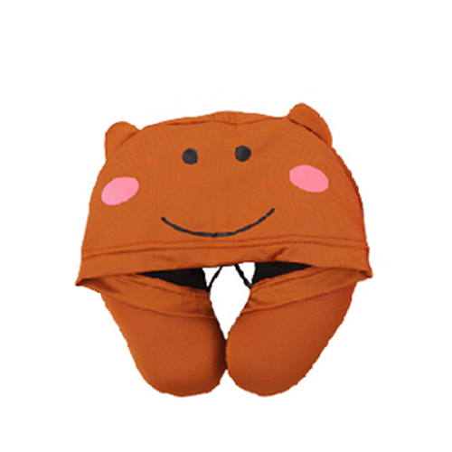 U Shape Neck Pillow With Cap