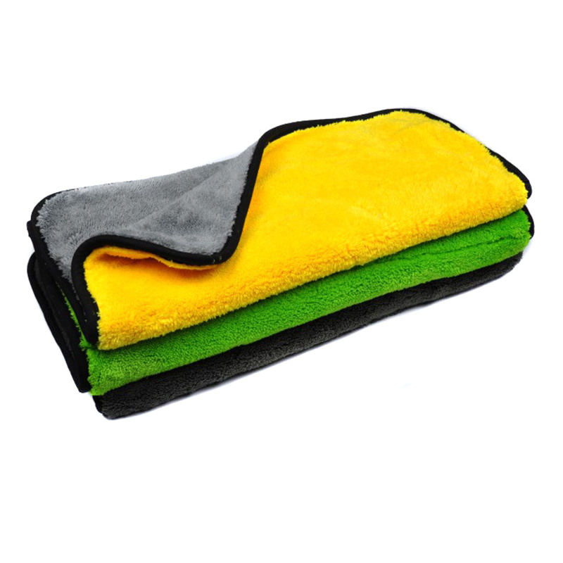 Double Sided & Double Color Microfiber Cloth