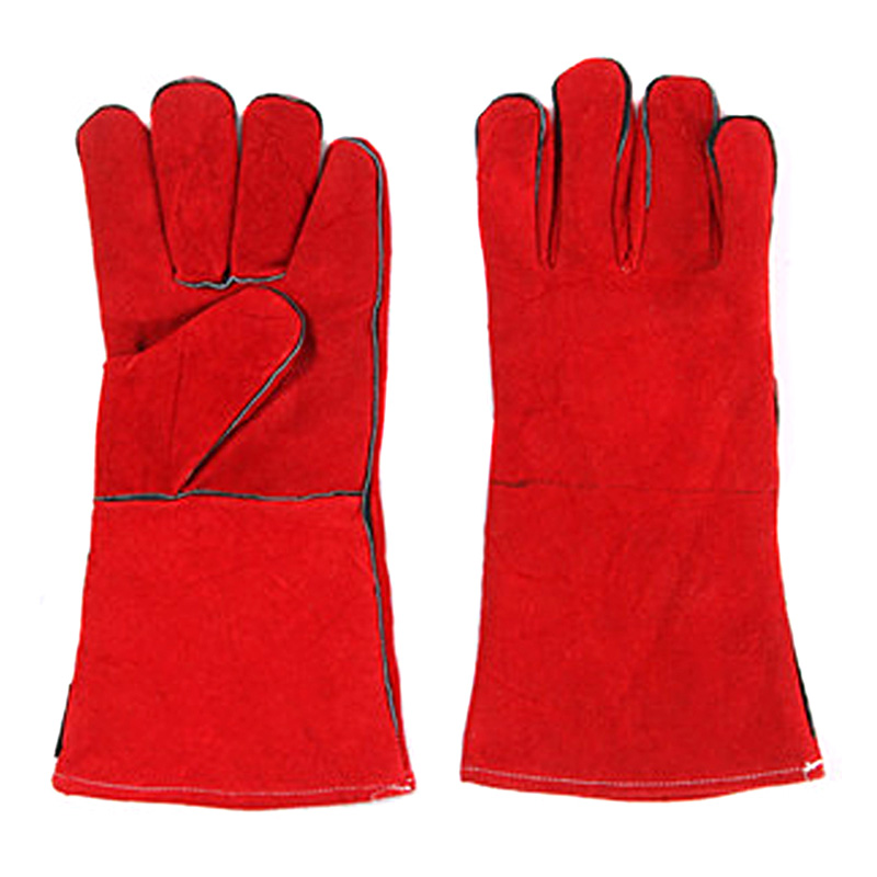 Rust orange weiding gloves