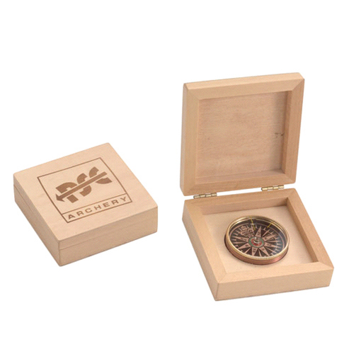 Wood Box Compass