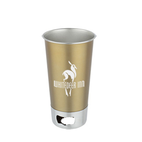 Stainless Steel Cup With Opener