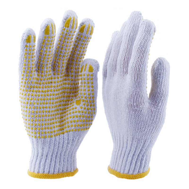 Cotton & Polyester & PVC Glove