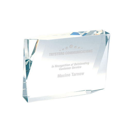 Beveled Rectangle Crystal Award
