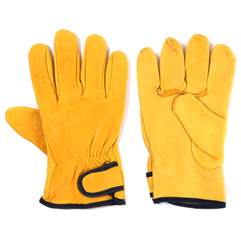 Yellow green sheep driver gloves