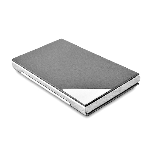 Stainless Steel And Pu Card Case
