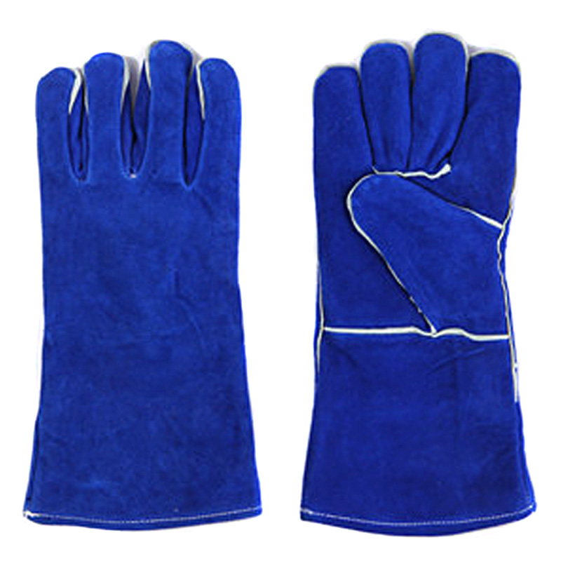 Cowhide leather blue color