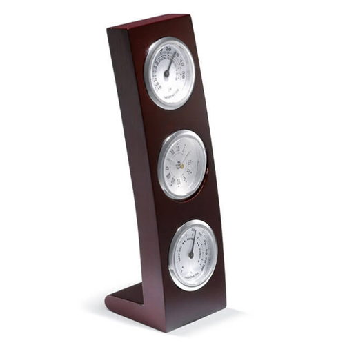 Vertical Wooden Stand With Clock